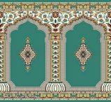 سجاده فرش مسجدی گل نرگس کاشان